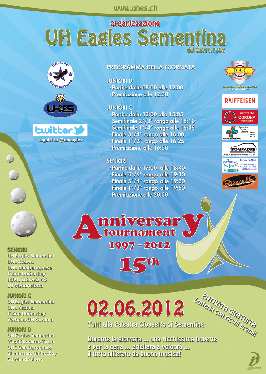 Flyer 15th Anniversary Tournament 2012