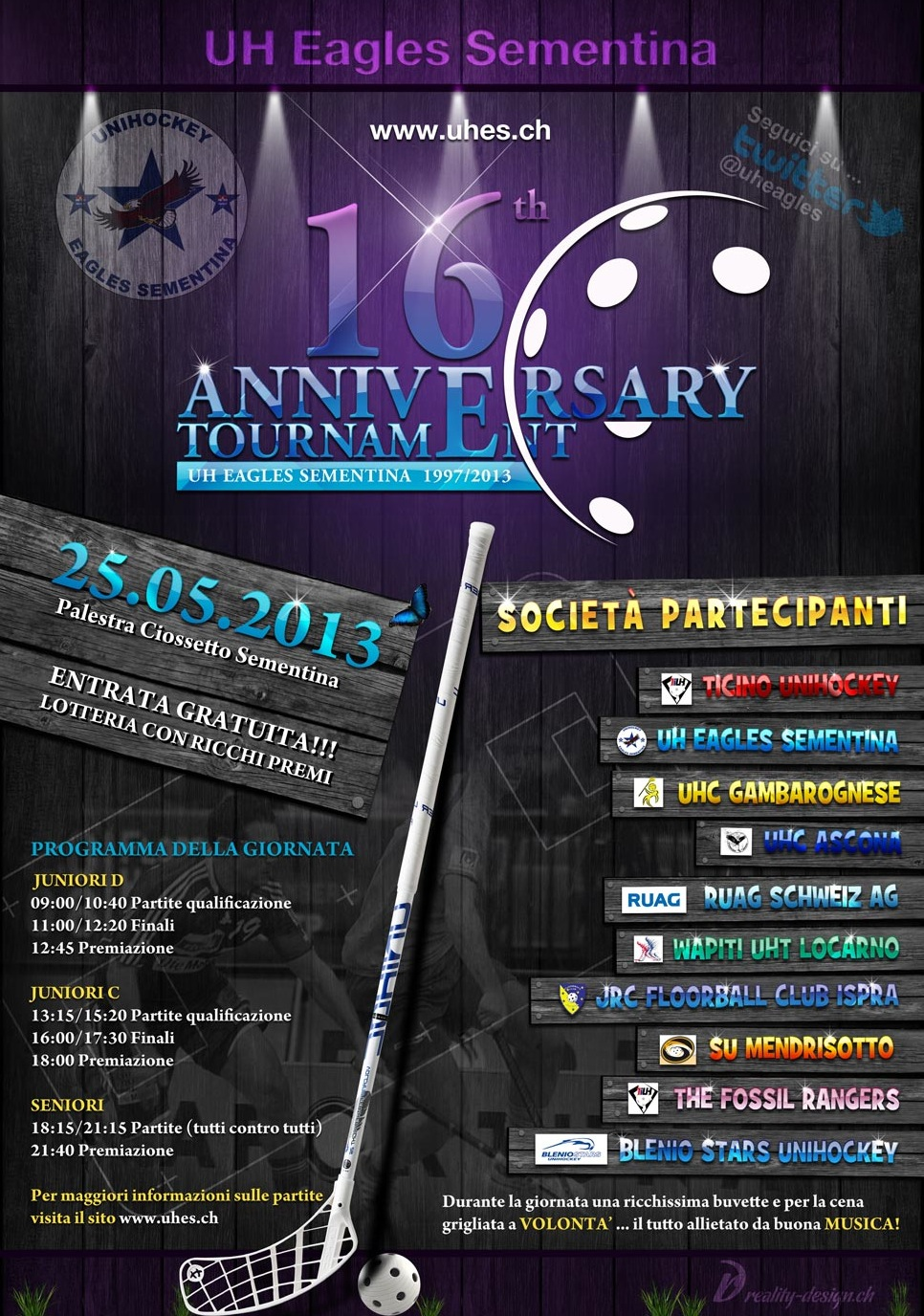Flyer 16 Anniversary Tournament 2013